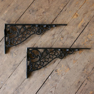 Victorian style shelf brackets