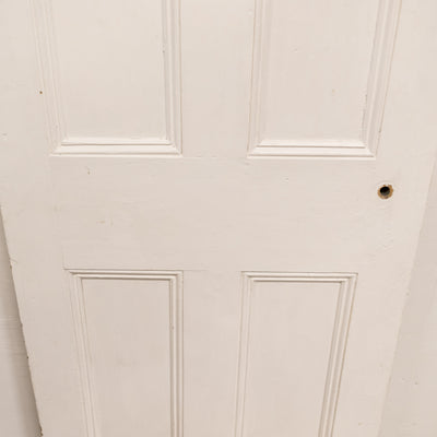 Antique Victorian 4 Panel Door - 195.5cm x 74.5cm