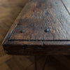 Large Oak Plank Top Coffee Table With Hairpin Legs