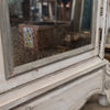 Antique French Carved Oak Louis XV Style Armoire with Mirrored Doors - architectural-forum