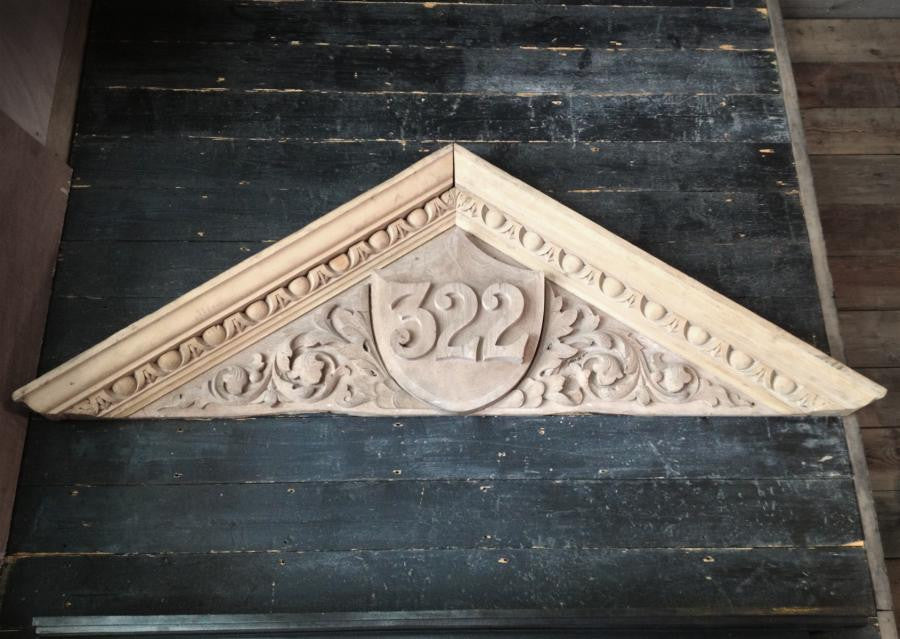 Large Carved Wooden Door Pediment - architectural-forum