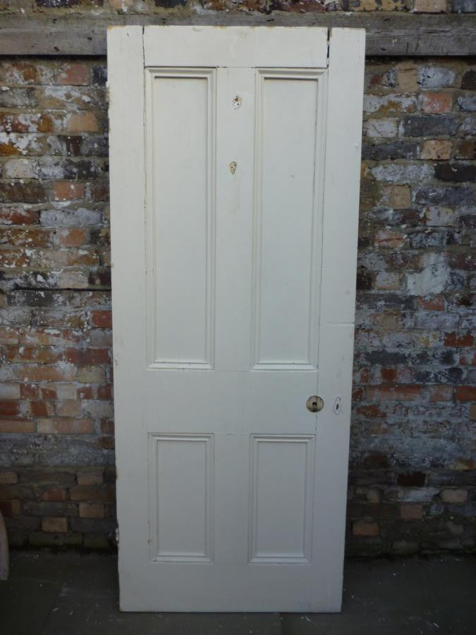 Original Victorian Four Panel Door - 201cm x 81cm