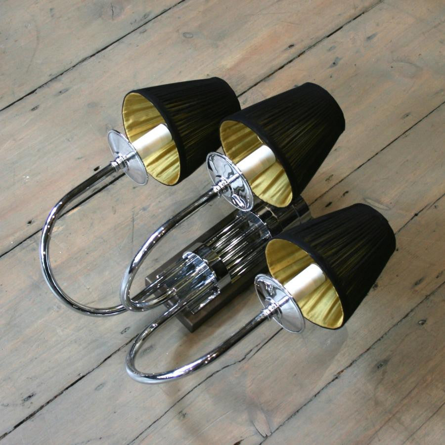 Set of 5 Reclaimed Chrome Wall Lights | The Architectural Forum