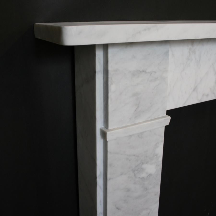 Victorian Carrara Marble Fireplace Surround | The Architectural Forum