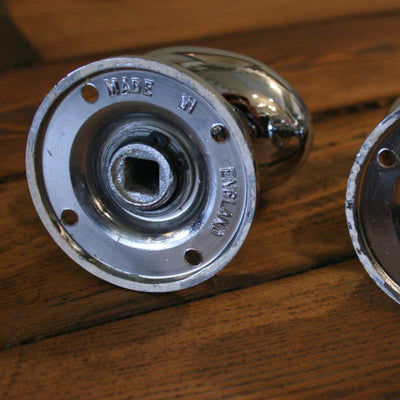 Edwardian Style Chrome Door Knobs (55mm plate) - The Architectural Forum