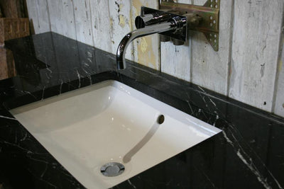 Reclaimed Black Marble Vanity Sink Unit