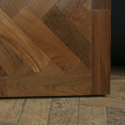 reclaimed teak parquet blocks