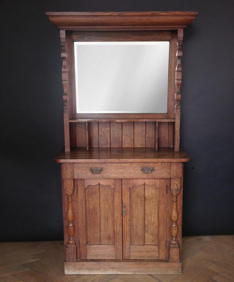 Antique Mirrored Oak Dresser The Architectural Forum