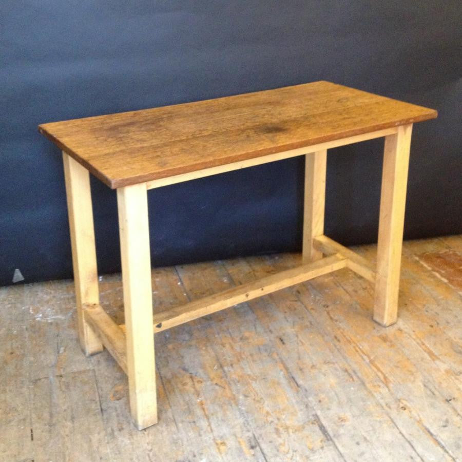 Reclaimed Vintage Iroko Top Wooden Tables - architectural-forum