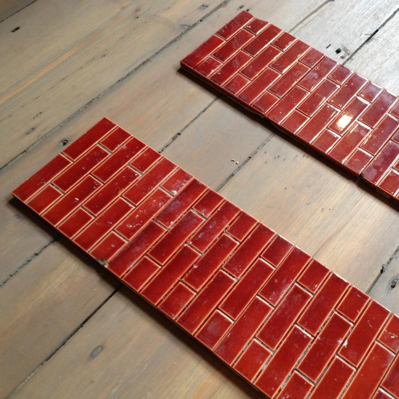 Antique set of fireplace tiles