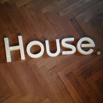Reclaimed house letters