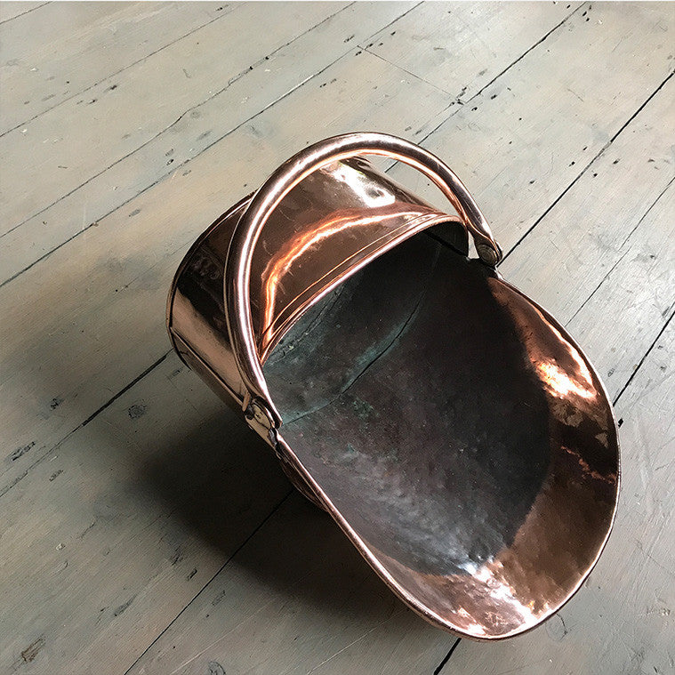 Antique Copper Coal Scuttle - architectural-forum
