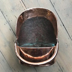 Antique Copper Coal Scuttle