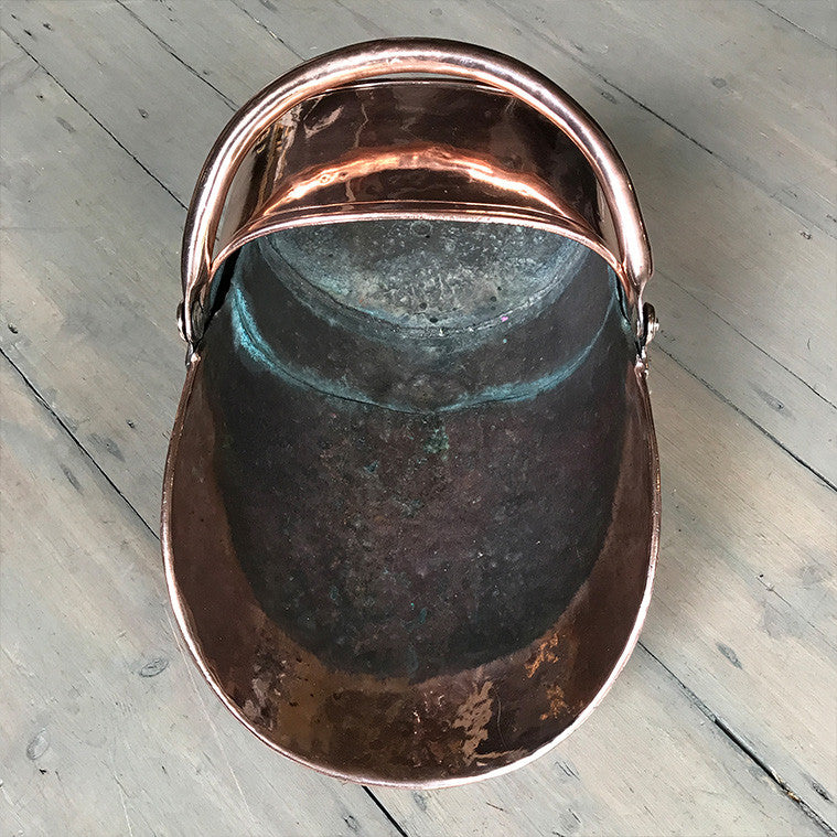 copper antique coal bucket