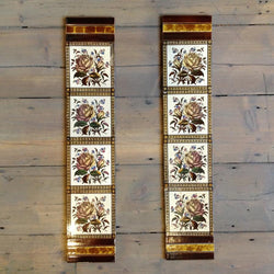 Antique Victorian fireplace tiles
