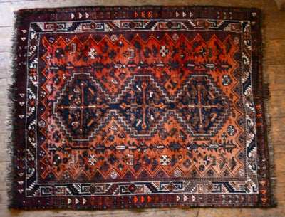 Antique Persian  - The Architectural ForumShiraz - The Architectural Forum Hand Woven Rug - The Architectural Forum