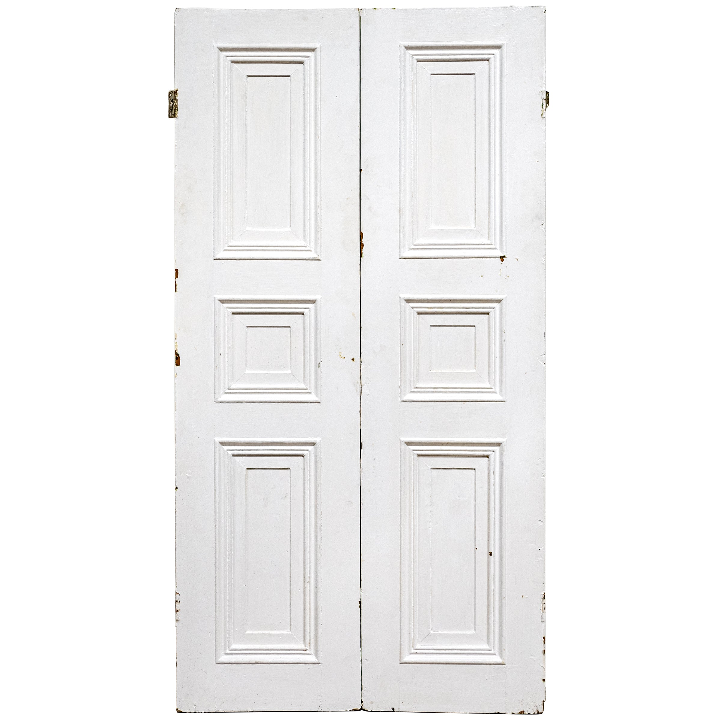 Antique Victorian Pine Window Shutters with Panelling