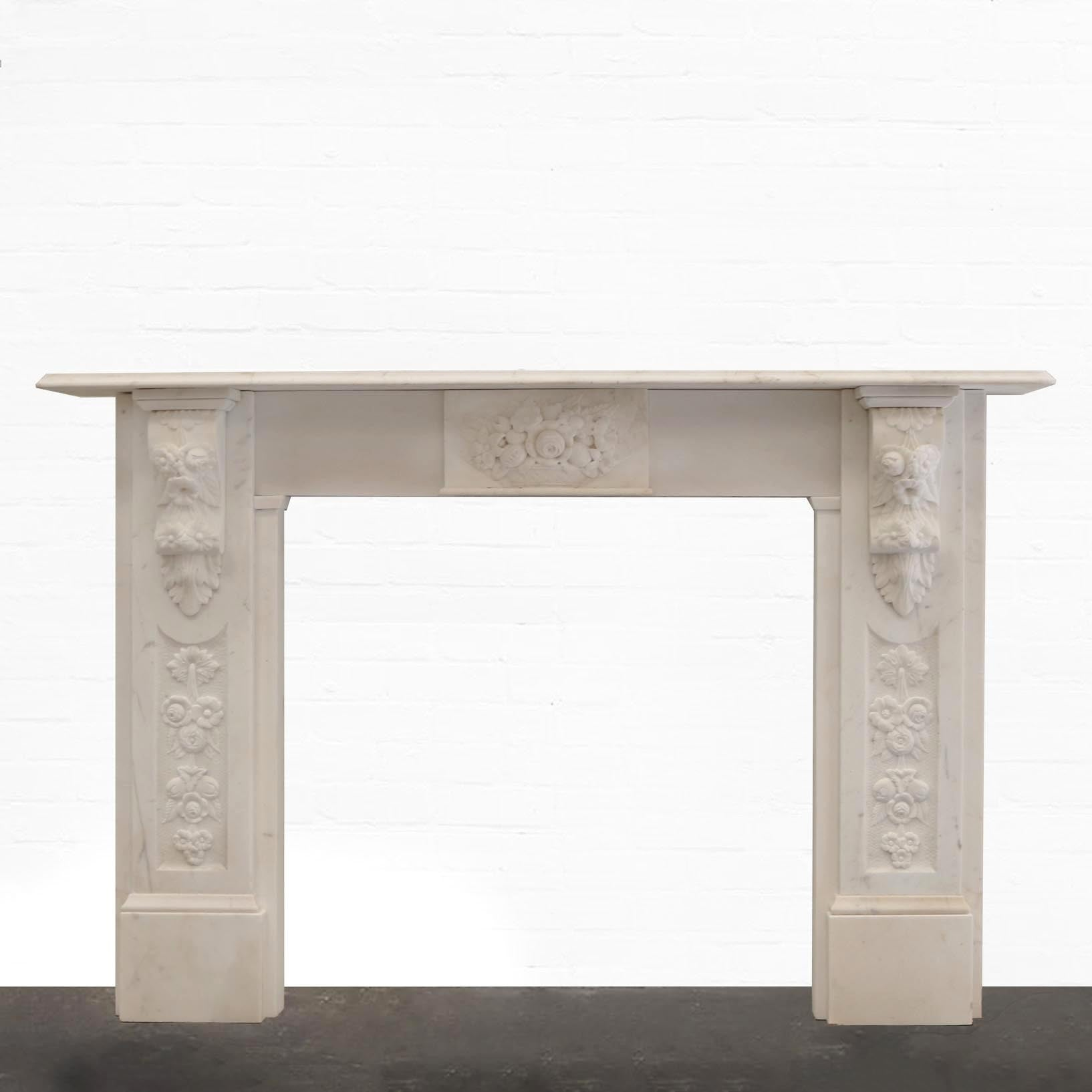 Antique Victorian Statutory Marble Fireplace Surround - The Architectural Forum