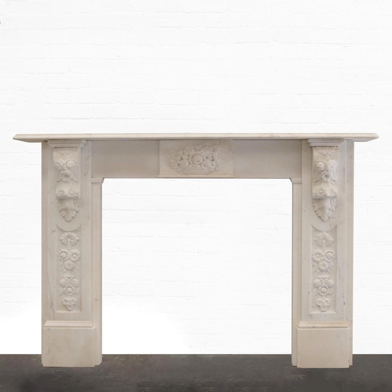 Antique Victorian Statutory Marble Fire Surround