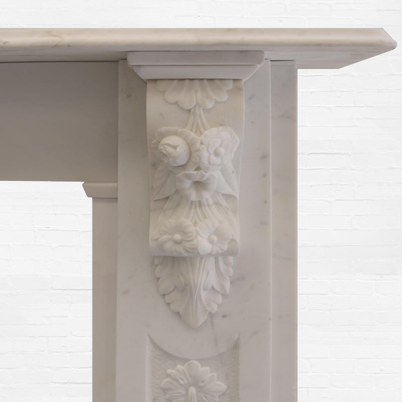 carved marble fire surround