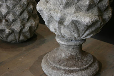 Reclaimed Stone Pineapple Pier Top Finial