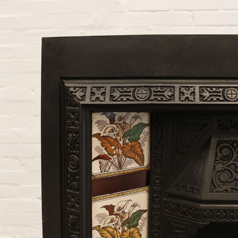 tiled cast iron victorian insert