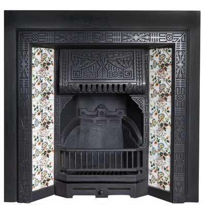 Edwardian Cast Iron Tiled Fireplace Insert - The Architectural Forum