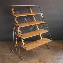 Convertible shelving unit