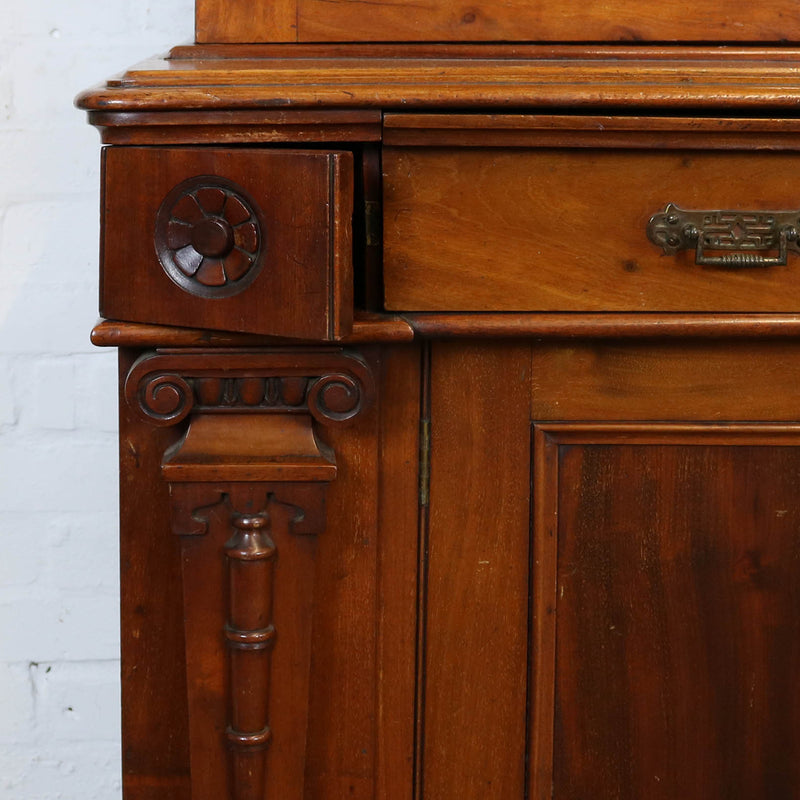 Victorian Mahogany Glass Fronted Dresser