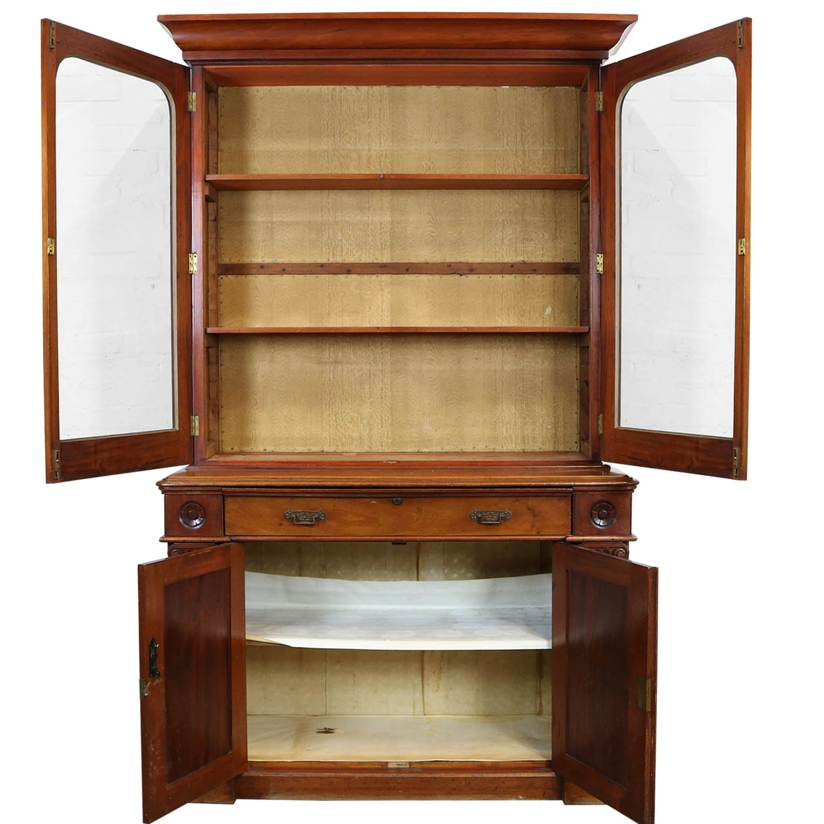 Victorian Mahogany Glass Fronted Dresser - architectural-forum