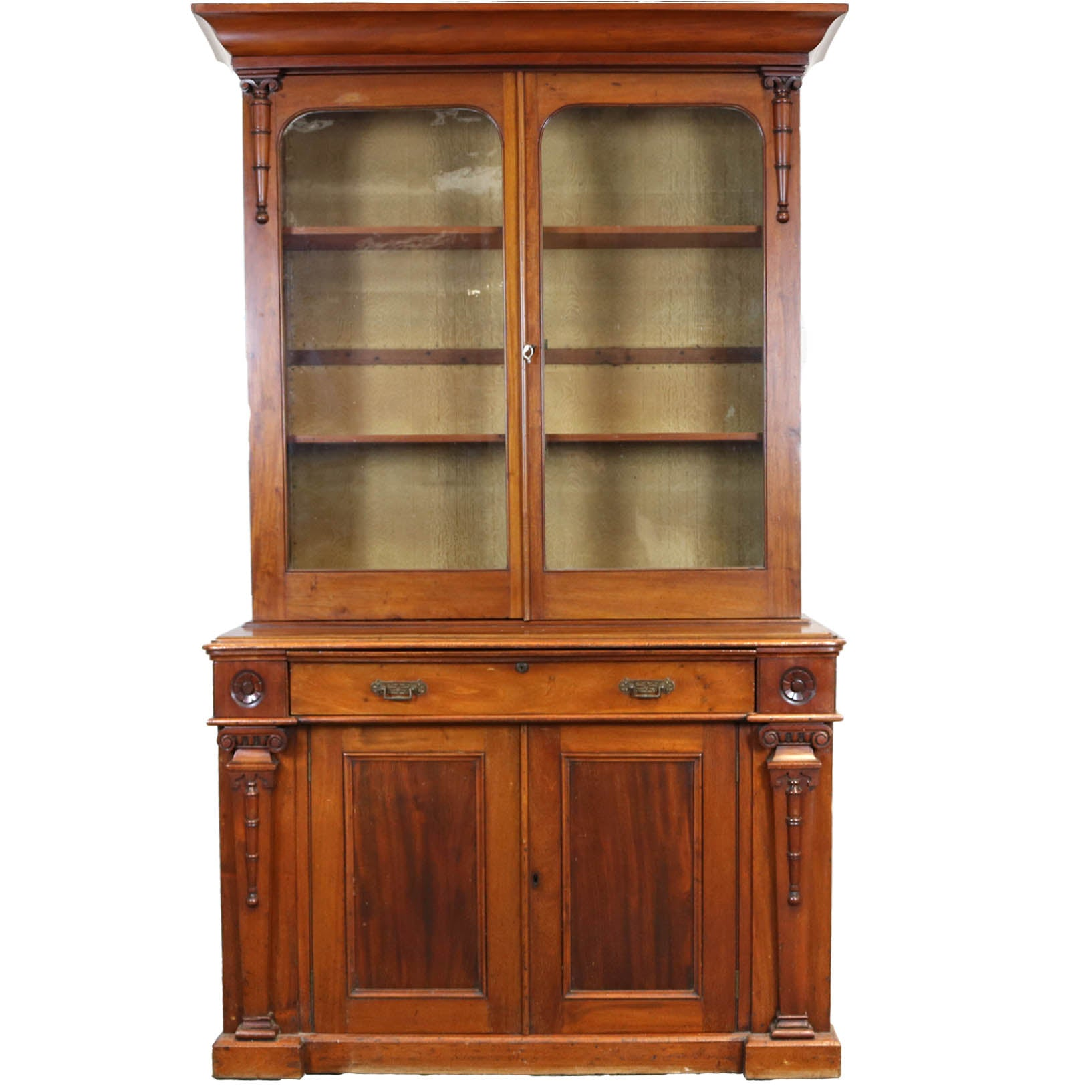 Mahogany Glass Fronted Dresser