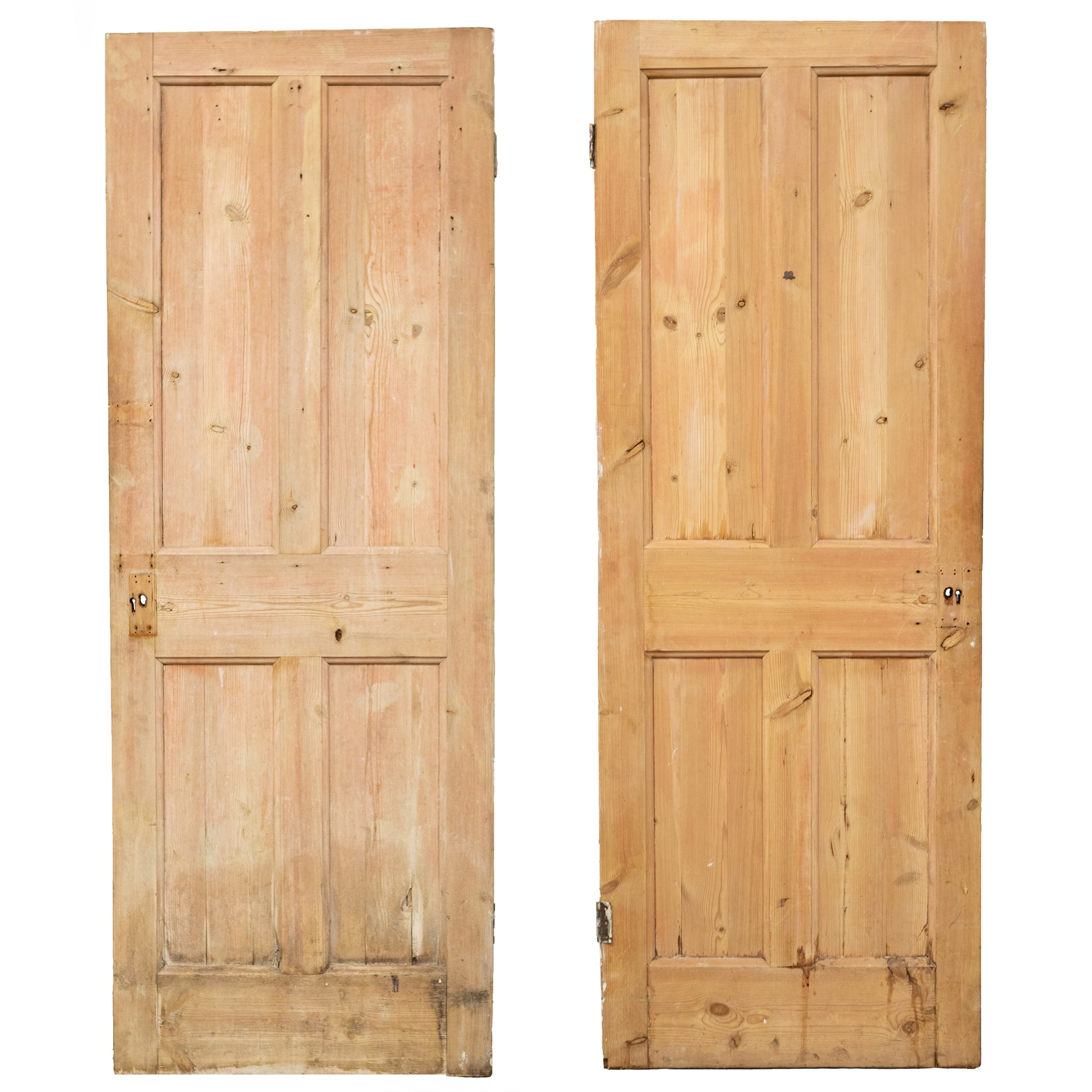 Reclaimed Solid Pine Door Stripped - 192cm x 70cm | The Architectural Forum