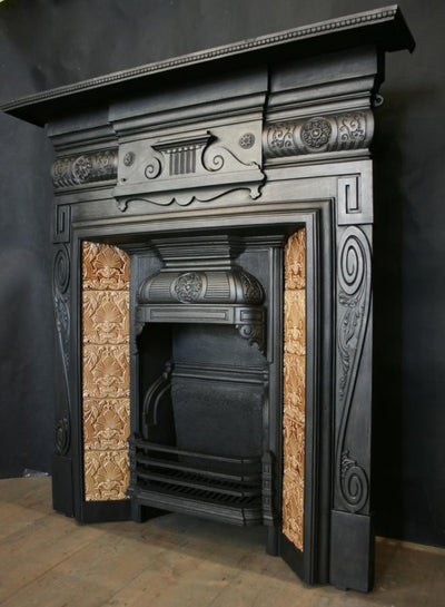 Antique Victorian Tiled Combination Fireplace - architectural-forum