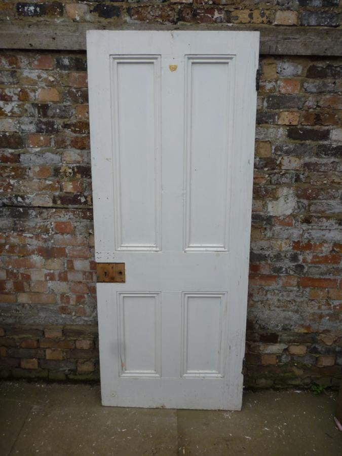 Reclaimed Pine Four Panel Door - 200.5cm x 80cm - architectural-forum