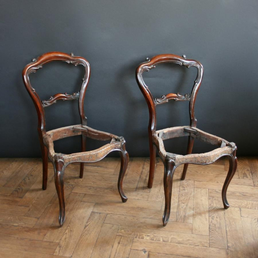 Antique Victorian Rosewood Chair Bases - architectural-forum