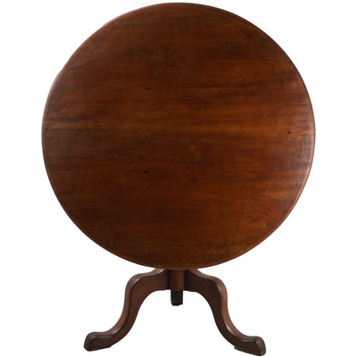 Antique Victorian Mahogany Tilt Top Tea Table - architectural-forum