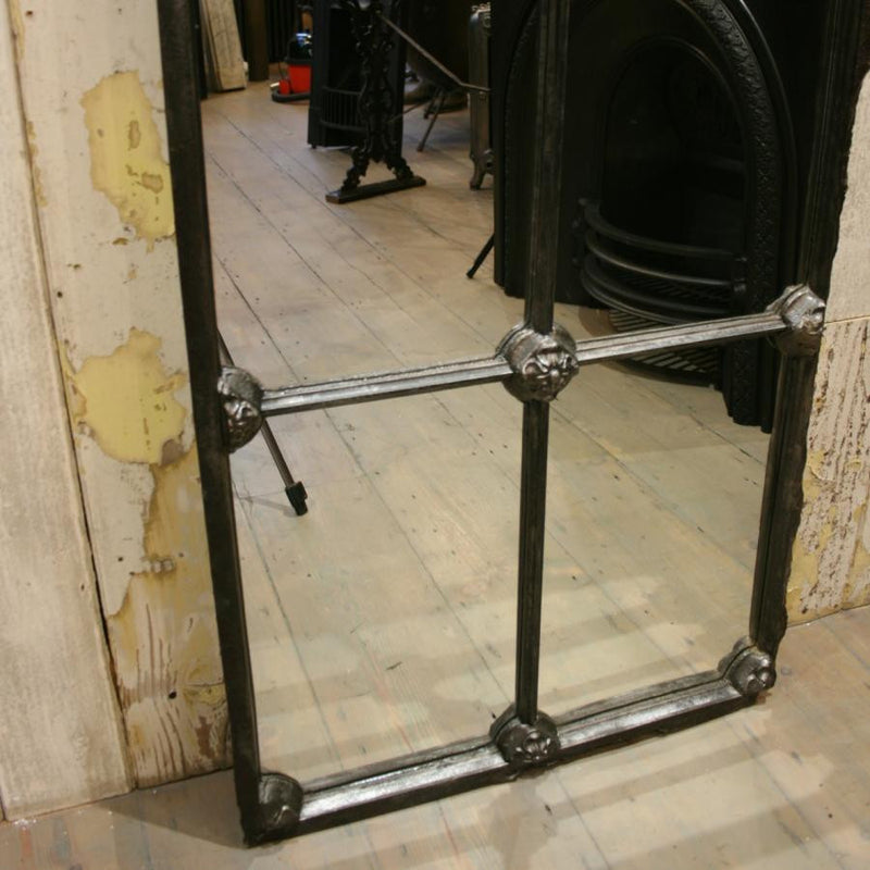 Antique Victorian Arched Cast Iron Window Mirror - The Architectural Forum