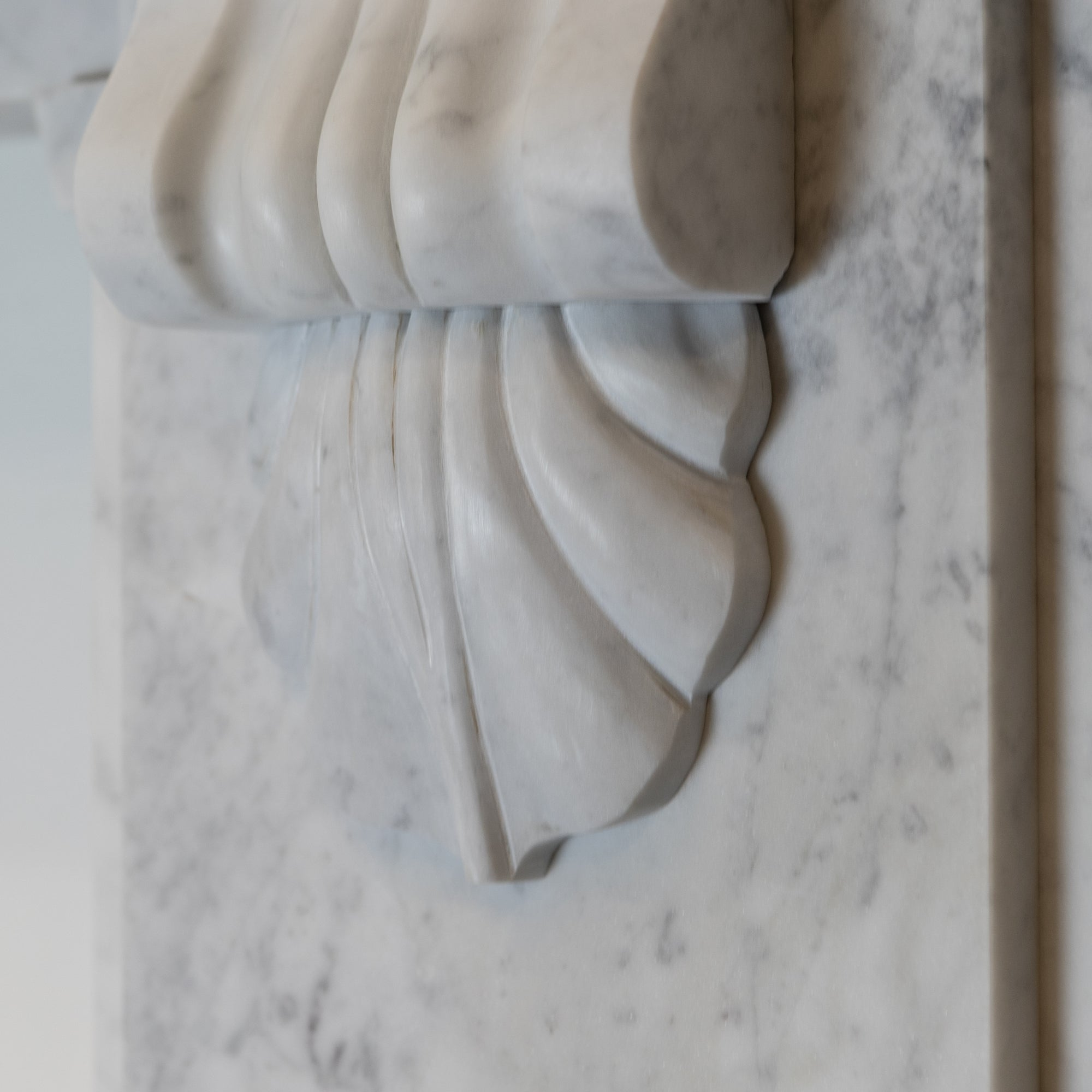 Large Victorian Style Carrara Marble Chimneypiece with Corbels | The Architectural Forum