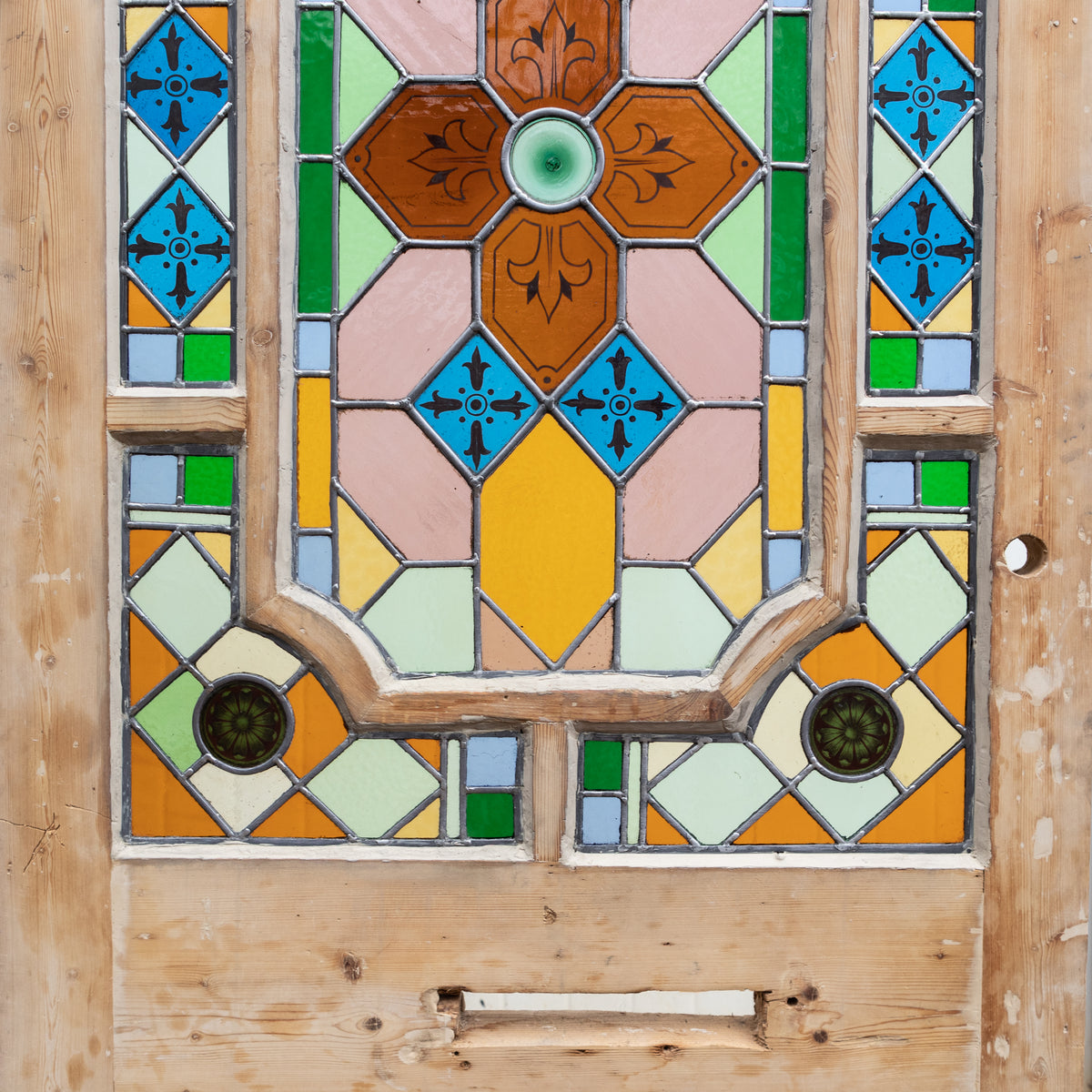 Spectacular Antique Victorian Stained Glass Door - 212.5cm x 91cm | The Architectural Forum