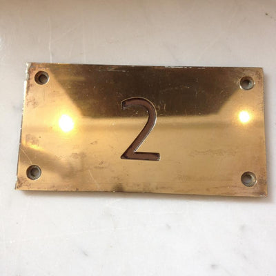 Art Deco Style Brass Door Number Plates - The Architectural Forum