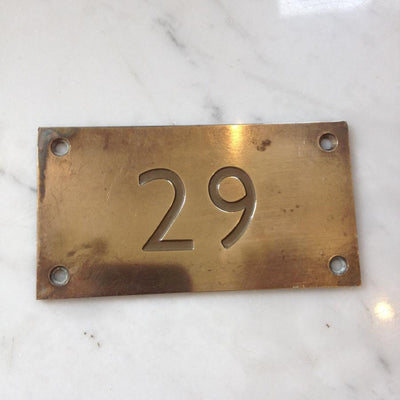 Art Deco Style Brass Door Number Plates - architectural-forum