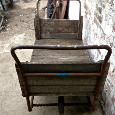 Vintage Wooden Barrow Trolley - architectural-forum