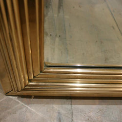 Deco Style Full Length Brass Framed Mirrors