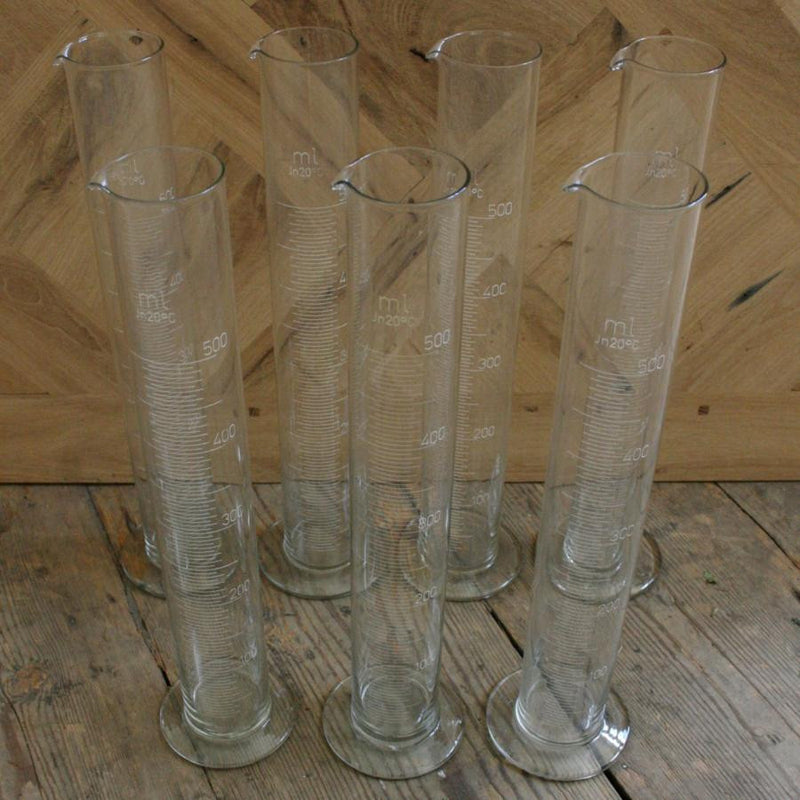 Cylindrical glass beaker