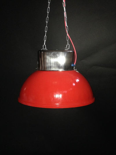 Vintage industrial red pendant factory lights