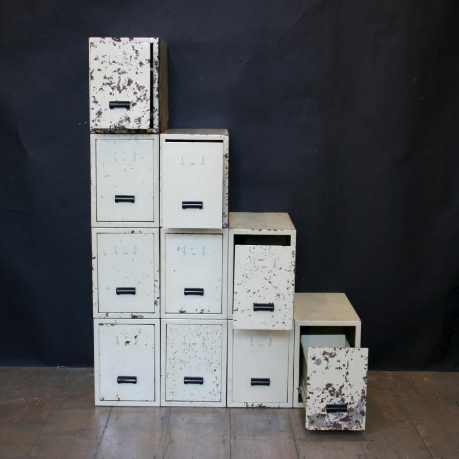 Large Vintage Industrial Office Drawers - architectural-forum