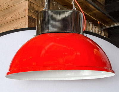 Vintage red industrial lights