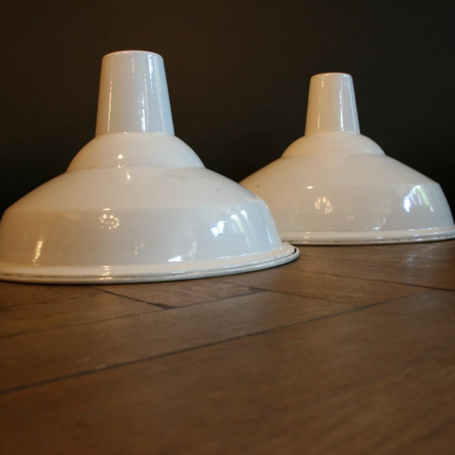 Industrial White Enamel Shades | The Architectural Forum