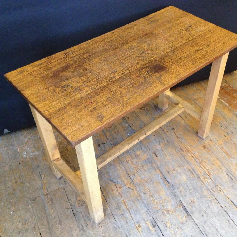 Reclaimed Vintage Iroko Top Wooden Tables | The Architectural Forum