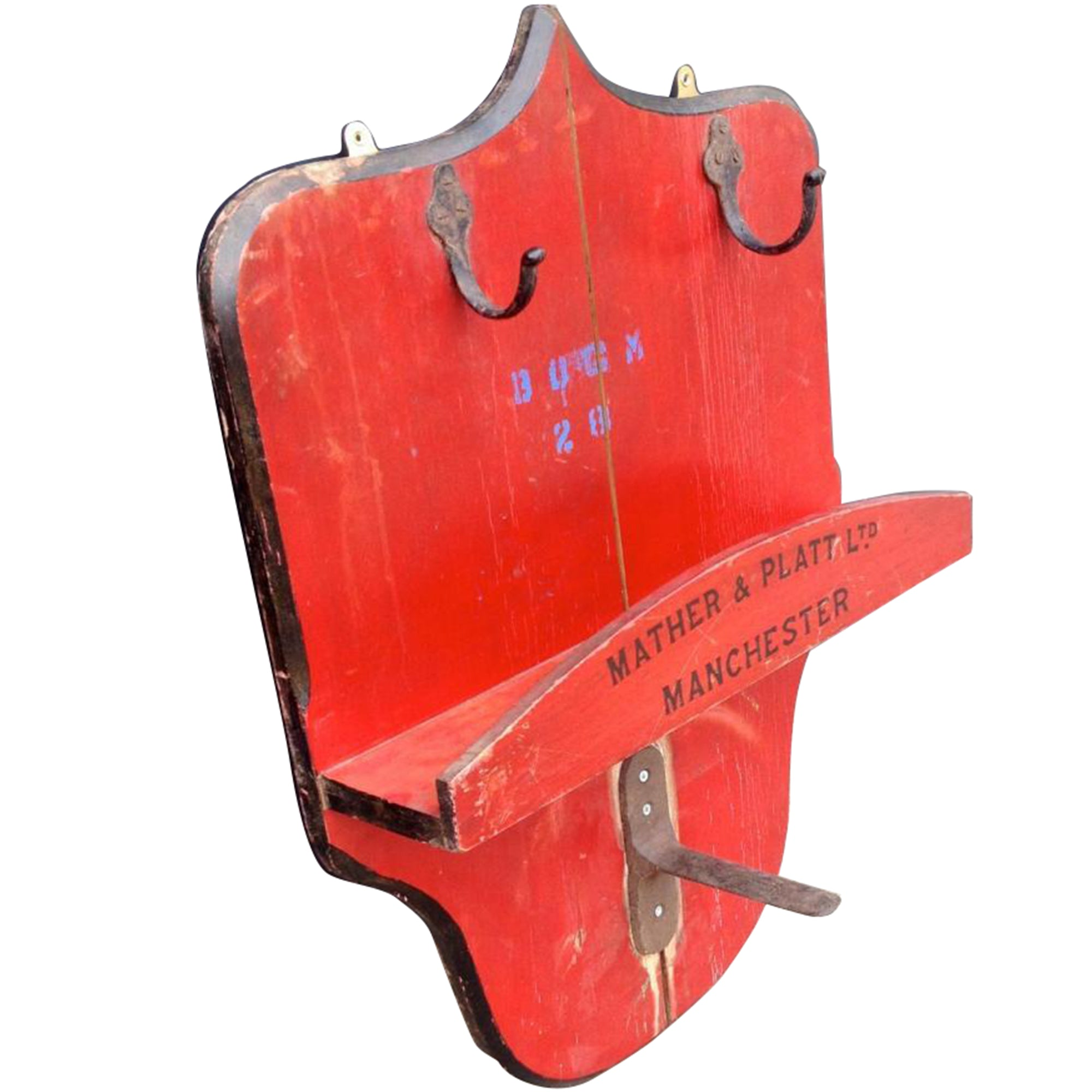 Vintage Wooden Fire Hose Mount